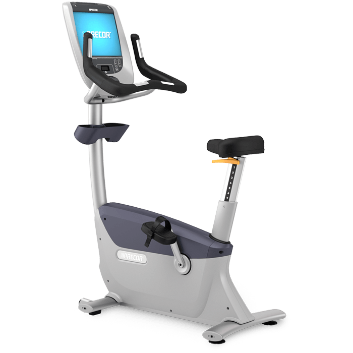 Precor UBK 885 W/P80 Console Remanuactured Commercial Upright Bike.Call Now For Lowest Prices Guaranteed!