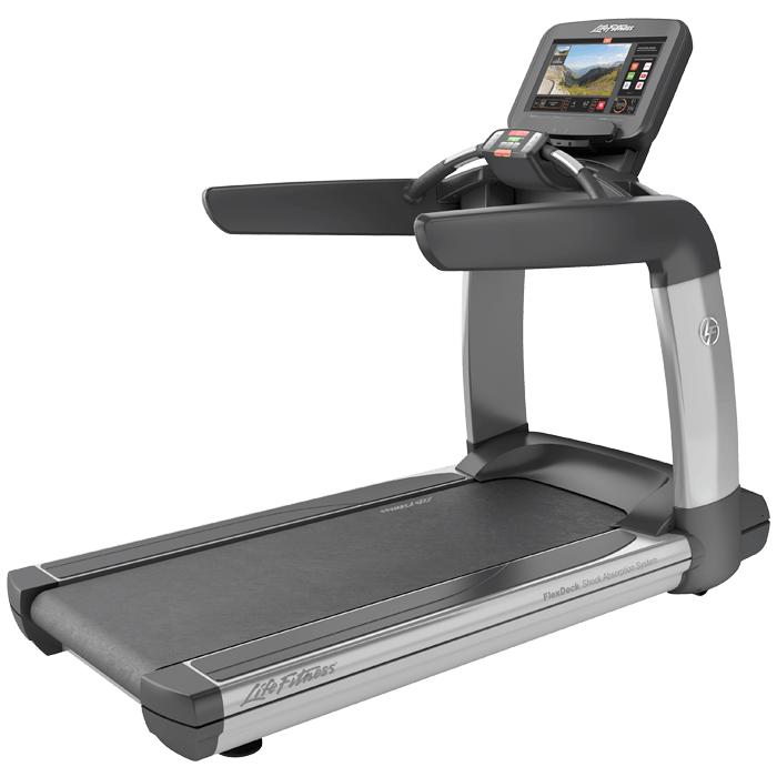 Life Fitness Elevation Discover SE Commercial Remanufactured Treadmill.