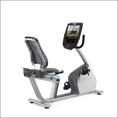 Precor RBK 885 Recumbent Bike W P82 Console-Remanufactured